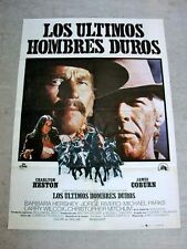 THE LAST HARD MEN Original WESTERN Movie Poster CHARLTON HESTON JAMES COBURN