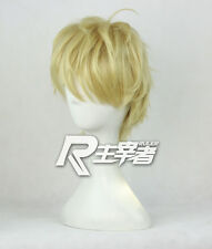 One Punch Man Genos Anime Costume Cosplay Wig + Cap + Free Track Number