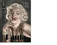 Marilyn Monroe Classic Birthday card Personalised A5