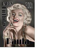 Marilyn Monroe Classic Birthday card Personalised A5