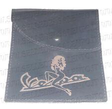 Portadocumenti porta libretto vera pelle incisione scritta Vespa donna vintage