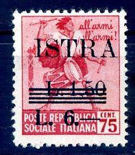 ISTRIA ( POLA ) OCCUPAZIONE JUGOSLAVA 1945 -  Lire 6  NUOVO  **