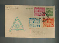1943 Philippines Japan FDC Occupation First Day Postcard Cover Independence Day