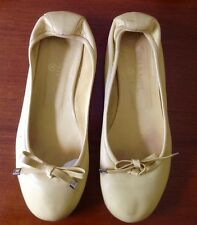 chanel lime green ballet flats sz 40