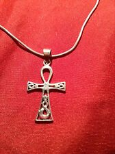 Stunning Solid 925 Sterling Silver Celtic Cross Pendant Necklace