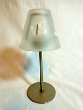 """TEA LIGHT CANDLE HOLDER 8"""" Lamp with Frosted Shade Dove Birds Metal"""