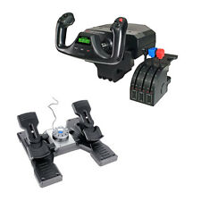 Saitek Pro Flight Yoke and Rudder Pedals for Flight Simulatioin for PC and Mac