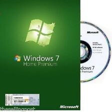 Microsoft Windows 7 Home Premium - 64 Bit Full Version & Upgrade SP1 NEW!