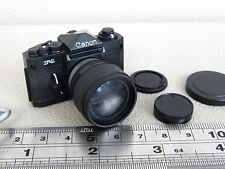MINIATURE CANON F-1 F1 PLASTIC DISPLAY MODEL CAMERA + FD 85MM F1.2L LENS