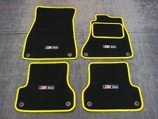 Schwarz/Gelb Fußmatten passend für Audi A6 C7 11 on + S-Line Logos x4 +