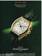 Publicité Advertising 1994 La Montre Richeville par Girard-Perregaux