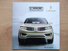 2015 Lincoln MKX Concept press kit brochure magazine book NO DVD NO USB