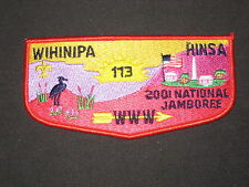 Wihinipa Hinsa 113 2001 National Jamboree zs5 Flap     oa