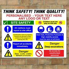 Personalised Building Site Safety Sign, Custom Construction site board Any Text