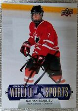Montreal Canadiens Nathan Beaulieu Signed 2011 UD World of Sports Card Auto