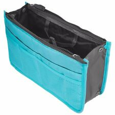 Blue Travel Bag Storage Case Zipper Organizer Hand Bag Makeup Cosmetic Toiletry