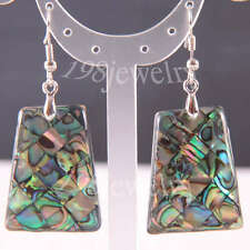 Natural New Zealand Abalone Shell Beads Dangle Earrings 1 Pair TU226