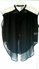 ATMOSPHERE Black with Cream Lace Sleeveless Summer Top Size 12 BNWT c11