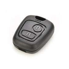 Black Plastic Remote 2 Button Key Fob Case For Peugeot 106 107 206 207 307 406