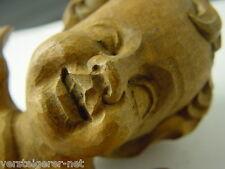 Alter geschnitzter Engelskopf aus Lindenholz, Putto um 1920 ? Engel Schnitzerei