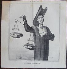 DAUMIER LITHOGRAPHIE ORIGINALE DU CHARIVARI, ACTUALITÉS N°250