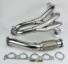 2.0L L4 Stainless Race Manifold Header & Downpipe FITS Hyundai Elantra 98-02