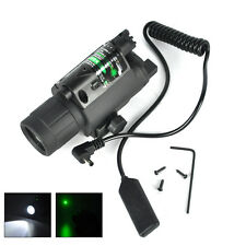 Green Dot Laser Sight Scope Rifle LED Flashlight Torch Hunting Mount Light Gun