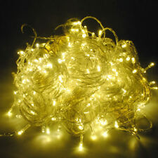 33 Feet Christmas Tree LED Light Party Garden Wedding String Strip Warm White