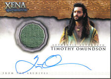 QUOTABLE XENA AUTO COSTUME CARD AC7 TIMOTHY OMUNDSON