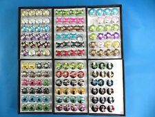 US SELLER-lot of 24 rings chunky enamel wholesale fashion rings