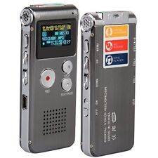 8GB LCD 650Hr Digital Audio Recorder Dictaphone MP3 Rechargeable Spy SYSZAU