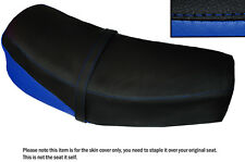 ROYAL BLUE & BLACK CUSTOM FITS JAWA CZ 125 175 1976 DUAL LEATHER SEAT COVER ONLY