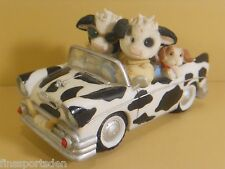 """MARY'S MOO MOOS """"I've Got Moos In The Front Seat Of My Heart"""" Car Cows Figurine"""