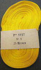 25m of Unusual Vintage 6mm Yellow/White Ribbon