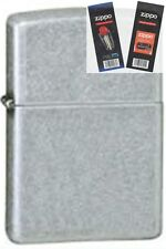 Zippo 121fb antique silver plate Lighter with *FLINT & WICK GIFT SET*