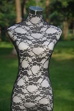 Black Handmade Lace Top Material Cover for  Female Mannequin Dress Model Dummy