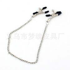 Long Chain Nipple Clamps Chains Adult Game Breast Clips Milk Folder Sex Toys