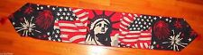 Independence Day - Lady Liberty Tapestry Fabric Table Runner - New
