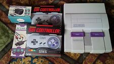 Complete Super Nintendo Console (SNES) 2 controllers, av, power, Tested Working