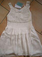 (H226) Miss Blumarine Girls Kleid 100% Seide + Pailletten & Strass Besatz gr.116
