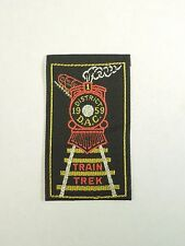 Vintage District 1959 D.A.C Train Trek  Railway Sew On Linen Patch