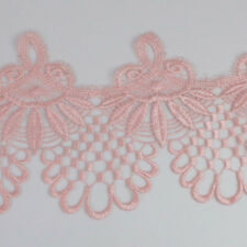 3 Yards DIY Pink Fabric Polyester Applique Venise Lace Trims Sewing Crafts Hot