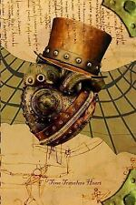 Time Travelers Heart : Steampunk Notebook (2014, Paperback, Enlarged, Large...
