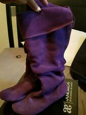 Purple suede boots size 7.5