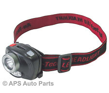 3 Watt LED Sensor Headlight 200 Lumens Head Strap Adjustable Professional New