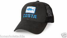 BRAND NEW COSTA DEL MAR TUNA TRUCKER MESH CAP HAT - BLACK   - HOT HOT