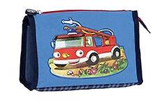 Kinder Kulturbeutel Kulturtasche Feuerwehr blau passend zum Trolley