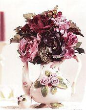 HOME INTERIORS Decorative Porcelain Pink Rose Floral Teapot Kitchen Decor
