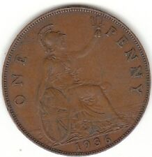 1936 RE GEORGIVS V One Penny 1d-Coin Hunt
