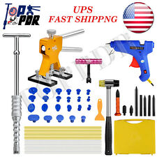 46Pcs Paintless Dent Repair Dent Lifter Slide Hammer Puller Full PDR Tools+ Box